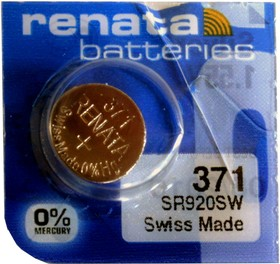Фото 1/2 371 SR920SW, батарейка оксид-серебр., 1 шт.