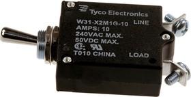 3-1393247-2, W31-X2M1G-10, тепловой выключатель 10А