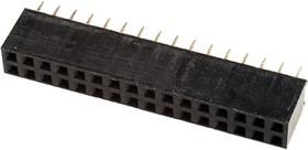 PBD-32 гнездо на плату шаг 2.54мм 2x16 прям