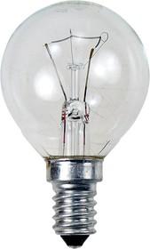 Лампа 40Вт, сферическая прозрачная, цоколь E14