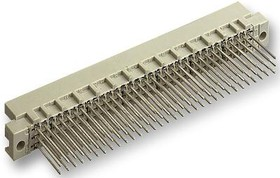 09 73 196 6577, Разъем DIN 41612, Серия Type R, 96 контакт(-ов), Штекер, 2.54 мм, 3 ряда, a + b + c