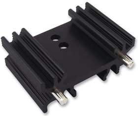 SW254, Heat Sink Passive TO-218/TO-220/TO-247 Radial Thru-Hole Aluminum 11.4°C/W Black Anodized