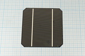 Фото 1/2 Солнечный элемент 103x103мм, № 6442 бат солнеч 0,47В\2,4А\ 103x103\\\элемент