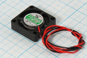 Вентилятор постоянного тока 12 Вольт, 25x25x7мм, шариковый подшипник, 10000об/мин, ВН314B вент 25x25x 7\ 12В\0,05А\2L\ ШП\YM1202PVC1