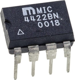 MIC4422BN, 9A Peak Low-Side MOSFET 8-Pin PDIP