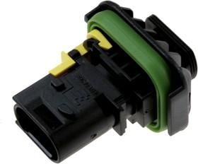 1-1703843-1, корпус вилки HDSCS 3конт.(тип MCP 1.5К)