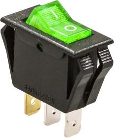 788, Переключатель, 3 конт., 250В/15.0А, зеленый, (791)