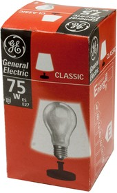 Лампа 75Вт, матовая, цоколь E27