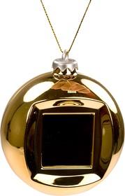 "DPOXMASBALL, Цифр.фоторамка- елочн.игрушка ШАР с часами (золотой), LCD1.5"" USB"