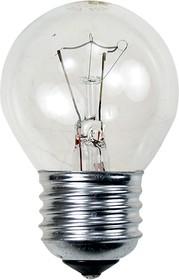 Лампа 40Вт, сферическая прозрачная, цоколь E27