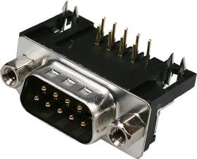DRB-9MB, вилка D-SUB 9 pin на плату угл. 9.4мм
