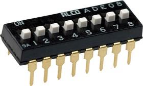 ADE0804, DIP-перекл.8 поз.2.54мм,24В/ 100мА,1825057-7