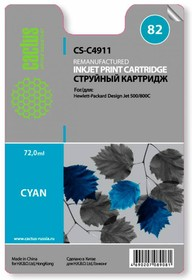 Картридж CACTUS CS-C4911 №82, голубой
