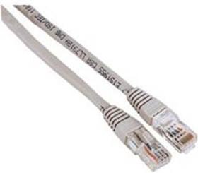 Патч-корд HAMA H-30595 cat.5E, 3м, 1 шт, серый