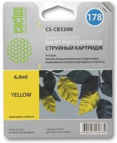 Картридж CACTUS CS-CB320N(CS-CB320) №178, желтый