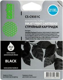 Картридж CACTUS CS-C9351C №21XL, черный