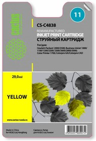 Фото 1/2 Картридж CACTUS CS-C4838 №11, желтый