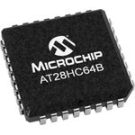 AT28HC64B-70JU, EEPROM, 64 Кбит, 8К x 8бит, Parallel, 5 МГц, LCC, 32 вывод(-ов)