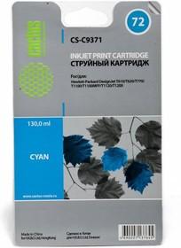 Картридж CACTUS CS-C9371 №72, фото голубой