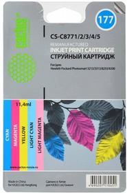 Набор картриджей CACTUS CS-C8771/2/3/4/5 голубой / пурпурный / желтый / светло-пурпурный / светло-пурпурный