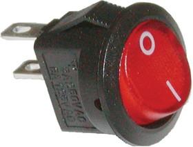 Фото 1/2 SMRS-101-2C3-R, Переключатель ON-OFF (3A 250VAC) SPST 2P, красная клавиша