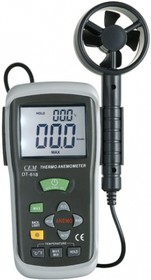 Фото 1/2 DT-618 Измеритель скорости воздуха и температуры