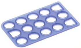 794281-1, Connector Accessories Seal Straight Silicone Rubber Blue Bag/Box