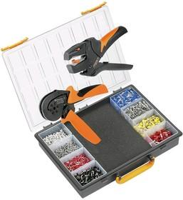 Crimp-Set PZ10 HEX, Набор инструмента для обжима (инструмент + наконечники)