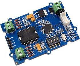 Фото 1/3 Grove - I2C Motor Driver, Двухканальная плата управления двигателем ток до 2А на канал, управляется ATmega8L