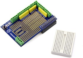 Фото 1/4 Prototype Shield for Raspberry Pi, Плата прототипирования для одноплатного компьютера Raspberry Pi
