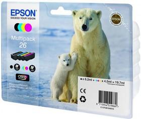 Набор картриджей EPSON C13T26164010 черный / голубой / желтый / пурпурный