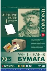 Этикетки Lomond 2000005 210x297мм A4 70гр/м2 на лист.1эт. самоклеющаяся универсальная (упак.:50л)