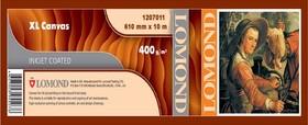 "Холст Lomond 1207011 24""(A1) 610мм-10м/400г/м2/белый лён для струйной печати втулка:50.8мм (2"")"