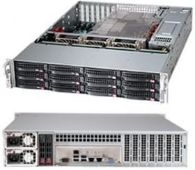 Корпус SuperMicro CSE-826BE26-R1K28LPB 2x1280W черный