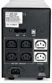 Фото 1/2 IMD-1025AP, Back-UPS IMPERIAL, Line-Interactive, 1025VA / 615W, Tower, IEC, LCD, USB