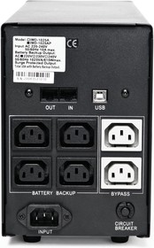 Фото 1/2 IMP-1025AP, Back-UPS IMPERIAL, Line-Interactive, 1025VA / 615W, Tower, IEC, USB