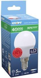 """LED-Sphere-E14-5W30, Лампа светодиодная """"шар"""" 5Вт, 220B, матовая"""
