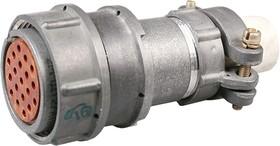 Фото 1/3 2РМДТ27КПН19Г5В1В, Розетка на кабель с прямым патрубком для неэкранированного кабеля