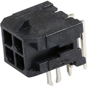 Фото 1/2 43045-0422, Разъем типа провод-плата, 3 мм, 4 контакт(-ов), Штыревой Разъем, Micro-Fit 3.0 43045 Series