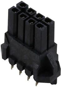44769-0801, Разъем типа провод-плата, 3 мм, 8 контакт(-ов), Гнездо, Micro-Fit 3.0 BMI 44769 Series