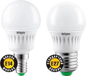 "NLL-G45-7-230-2.7K-E14 (94 466), Лампа светодиодная ""шар"" 7Вт,220В (теплый)"