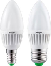 """NLL-C37-7-230-4K-E27-FR (94 494), Лампа светодиодная """"свеча"""" 7Вт,220В, матовая, (дневной)"""