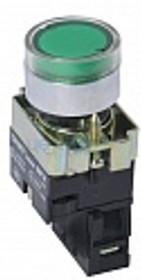 NP2-BW3361 230V LED, Кнопка без фиксации зеленая с подсветкой ON-(OFF)