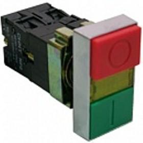 NP2-BW8465 230V LED, Кнопка сдвоенная с подсветкой ON-OFF/OFF-ON