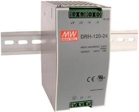 DRH-120-24, Блок питания, вход: 2 фазы 340-550В,выход 24B,5A,120Вт