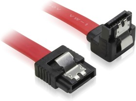 GC-ST1041-0.5m, Кабель интерфейсный угловой SATA III 0.5m, SATA III-SATA III до 6Gbps,26AWG,7pin/7pin