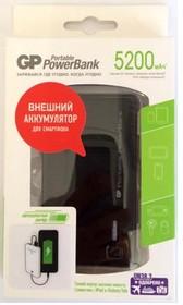 GP352BE, Внешний аккумулятор, универсальный, портативный (5200mAh) USB- micro USB