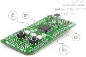 Фото 1/3 MIKROE-1534, SpeakUp click, Плата распознавания голоса форм-фактора mikroBUS