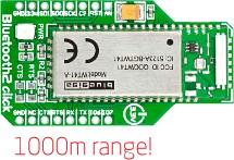Фото 1/4 MIKROE-1389, Bluetooth2 click, Плата Bluetooth-модуля форм-фактора mikroBUS