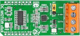 Фото 1/4 MIKROE-1526, DC MOTOR click, Драйвер управления двигателем форм-фактора mikroBUS